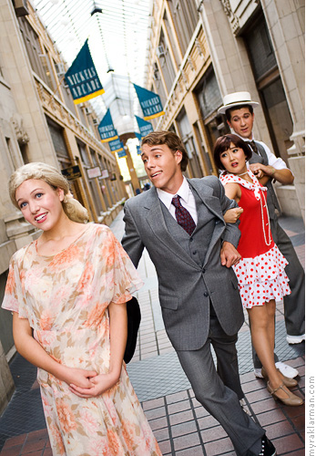Pioneer Theatre Guild: Thoroughly Modern Millie (PublicityShoot) | Jimmy wants Millie, who wants Trevor (Jimmy Mero), who wants Dorothy.