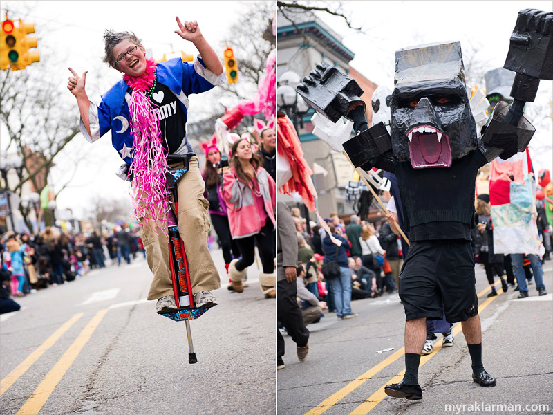 "FestiFools 2012 | ""Look Ma, no hands!"" FestiFools 2012 springs to a roaring start. (The cool guy on the pogo stick: he and I go way back.)"