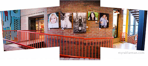 Portraits on Display atKerrytown | Photos in this collage taken from inside Everyday Cook. View large.