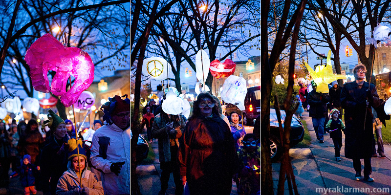 FoolMoon 2012 | The procession wends its way around Kerrytown before finally descending upon downtown.