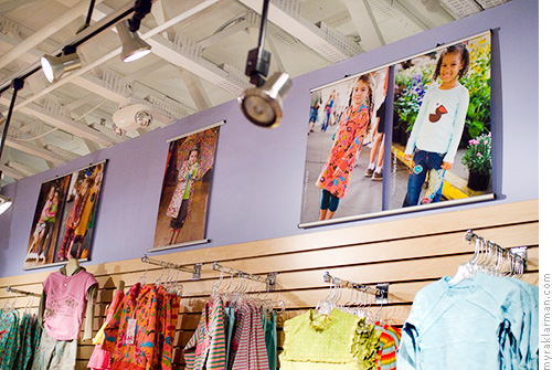 Portraits on Display at Kerrytown | Elephant Ears' in-store displays feature local kids — perhaps even someone you know! — modeling the latest fashions.