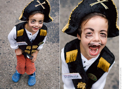 "Halloween 2007 | Max dressed up as Capt. (formerly First Mate) Starbuck. | ""Arrrrrrr!"""