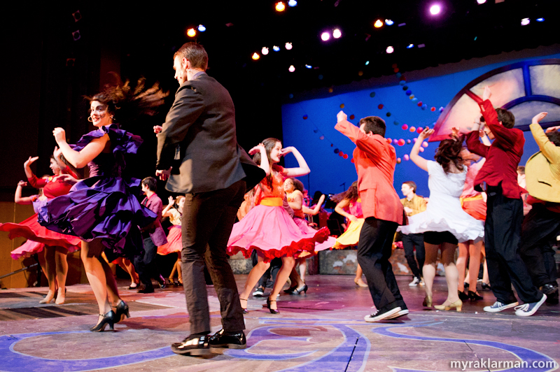 "Pioneer Theatre Guild: West Side Story | ""Dance at the Gym"": I love the Shark girls' skirts."