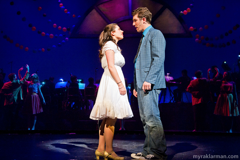 Pioneer Theatre Guild: West Side Story | Maria and Tony meet at the dance. (Clare Higgins and Ari Axelrod)