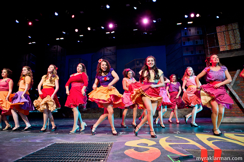"Pioneer Theatre Guild: West Side Story | The Shark girls in ""America"""