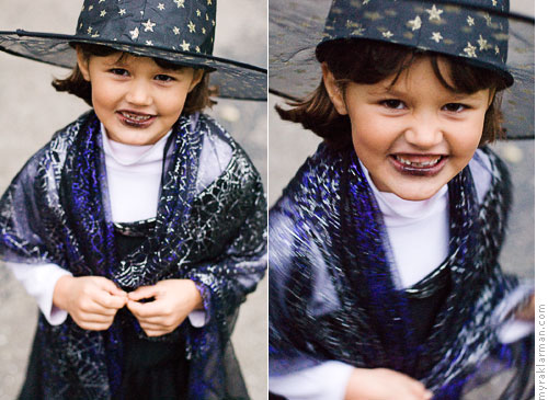 Halloween 2007 | Lyd bewitched us all in the costume she made herself. | Max and Lyd started trick-or-treating together in 2004 (when her li'l bro Jo was only 6 months old).