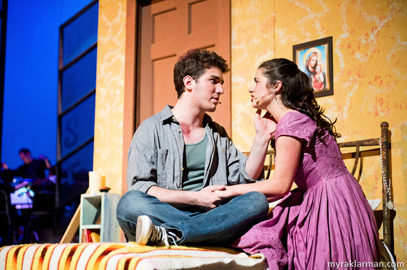 Pioneer Theatre Guild: West Side Story | Tony and Maria plan to run away together. (Ari Axelrod and Clare Higgins)