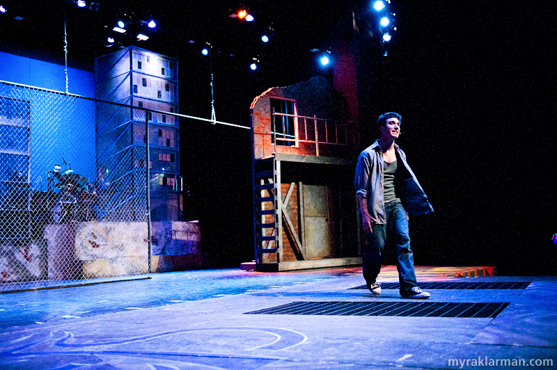 Pioneer Theatre Guild: West Side Story | Tony (Ari Axelrod) hears that Chino has killed Maria. He wants Chino to kill him, too.