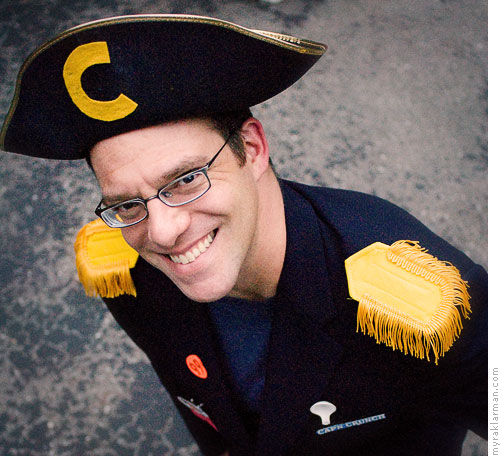 "Halloween 2007 | Rico as the ever dapper Cap'n Crunch. (I got an earful every time I incorrectly referred to him as ""CAPTAIN Crunch."")"