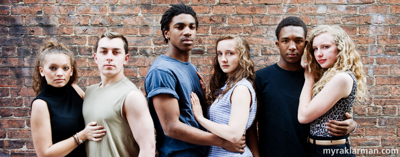 Pioneer Theatre Guild: West SideStory | Destiny Hughbanks, Kyp Papageorgiuo, Sena Adjei, Molly Cocco, Nick Washington, and Natalie White.