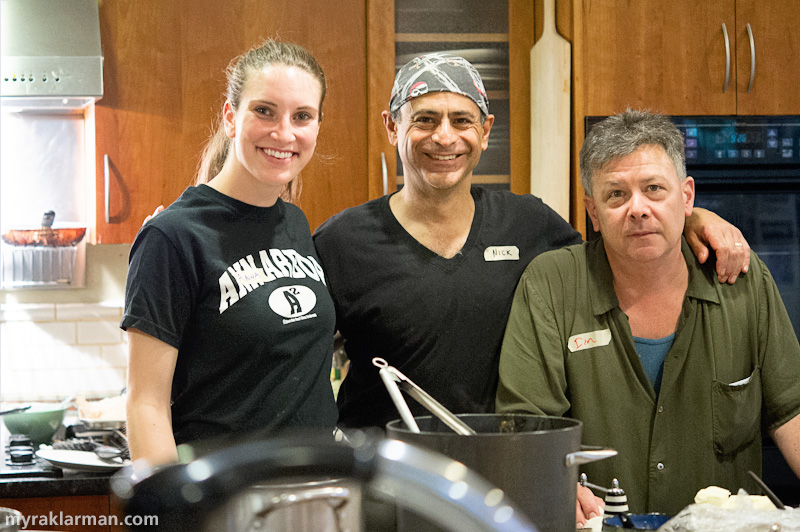 Catching Up with Selma Café | Sous chef Anna Zinkel, with Nick and Dan.