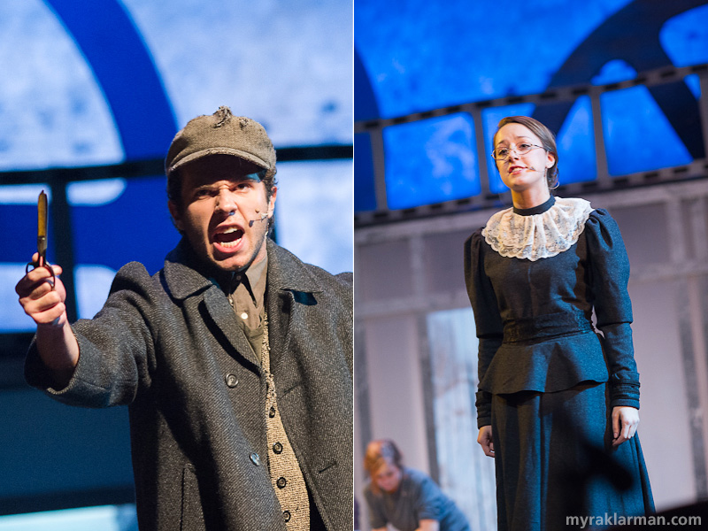 "Pioneer Theatre Guild: Ragtime | Tateh (Hank Miller) and Emma Goldman (Becca Shipan) in ""Success"""