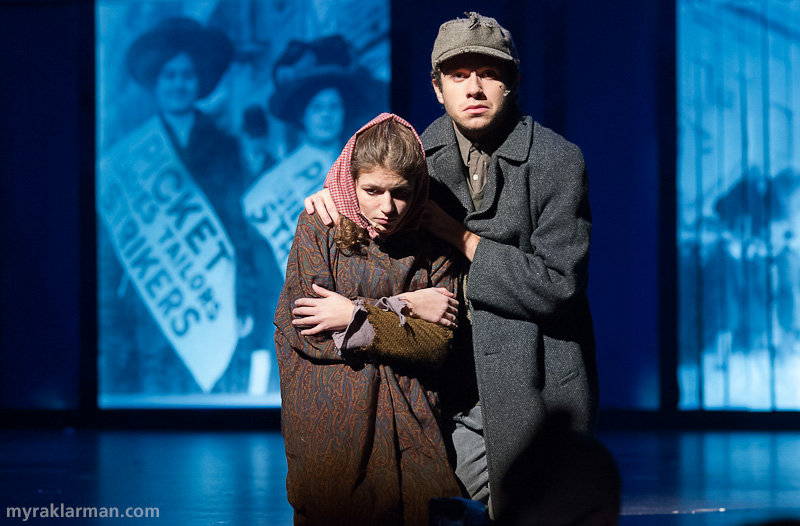 Pioneer Theatre Guild: Ragtime | Tateh and his daughter are freezing and starving (Hank Miller and Maya Krugman).