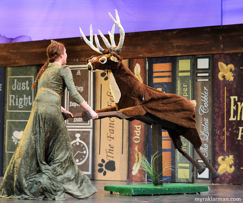 Shrek The Musical | Another coup for the props team: a dancing deer!