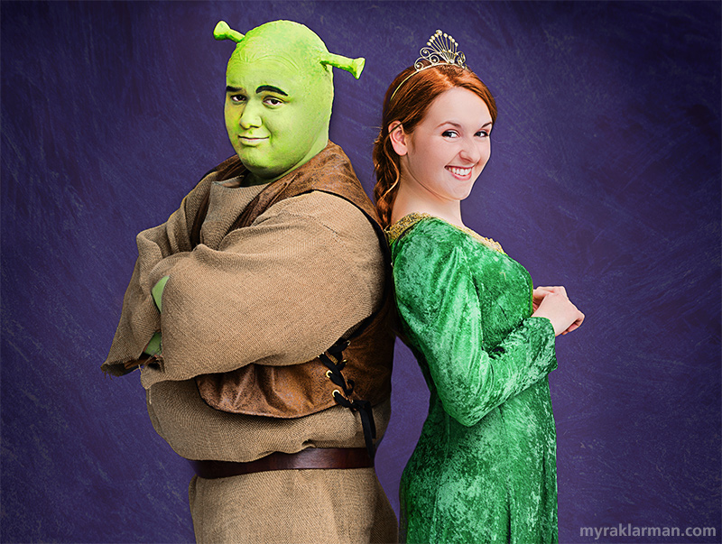 Shrek The Musical | Publicity photo with Andrew Nazzaro and Hannah Hesseltine.