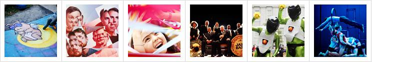 Announcing VI.VA   Max's Festival dance card includes: Chalk artist David Zinn, Django Danjo, Tangle, Preservation Hall Jazz Band with The New Orleans Bingo! Show, Spontaneous Art, and Les 7 doigts de la main (7 Fingers).