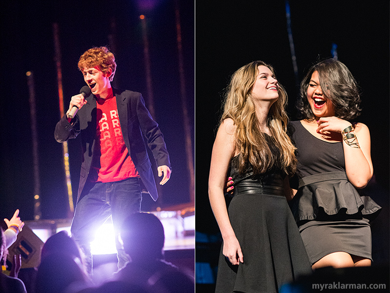 "FutureStars 2014 | Michael Shapiro (with Tia Khainninissa and Rose Meehan) sang The Kinks' ""You Really Got Me"" to a girl he pulled on stage from the audience. The crowd went wild!"