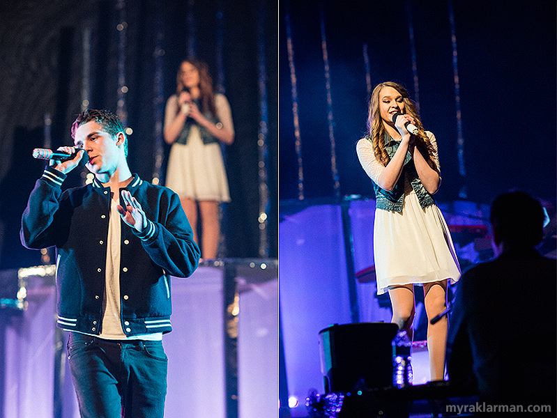 "FutureStars 2014 | (Top-6 finisher) Pioneer's Andrew Kauffmann and Samantha Torres showed their vocal power with Macklemore & Ryan Lewis's ""Same Love."""