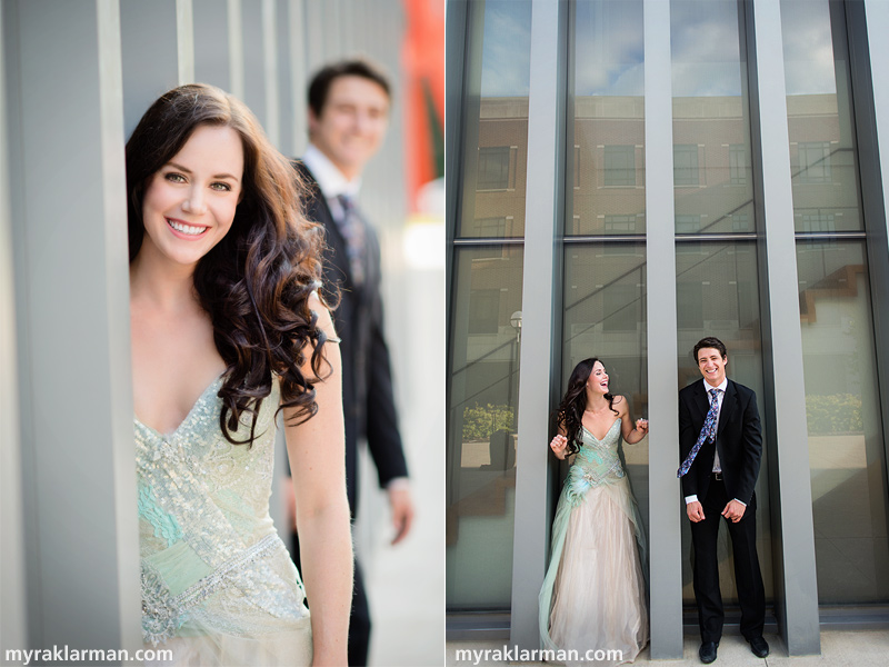 Tessa Virtue + Scott Moir: Fall 2013 Shoot | Beaming! (These were taken at the new wing of the University of Michigan Museum of Art).