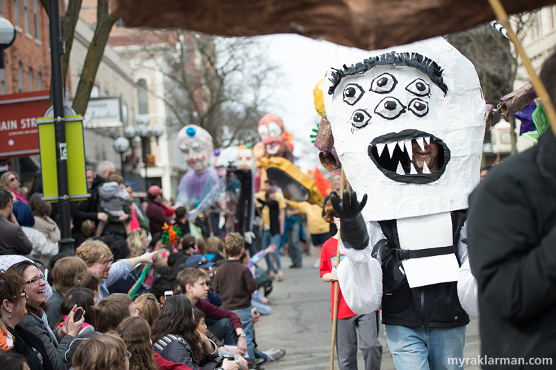 FestiFools 2014 | Ol' Six Eyes stops by on his way to clean up more industrial waste.