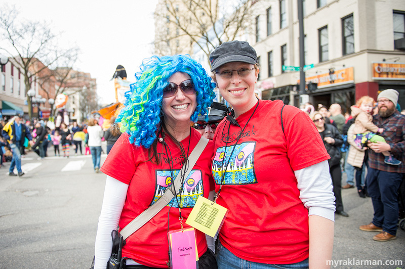 FestiFools 2014 | WonderFools Productions (WFP) Event Consultant Stephanie McIntyre and WFP Board Secretary Shoshana Hurand.