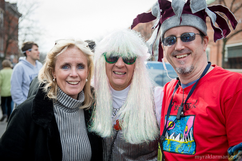 FestiFools 2014 | Debbie Dingell with WonderFools Productions (WFP) Producer Shary Brown and WFP Board President Dave Waterhouse.