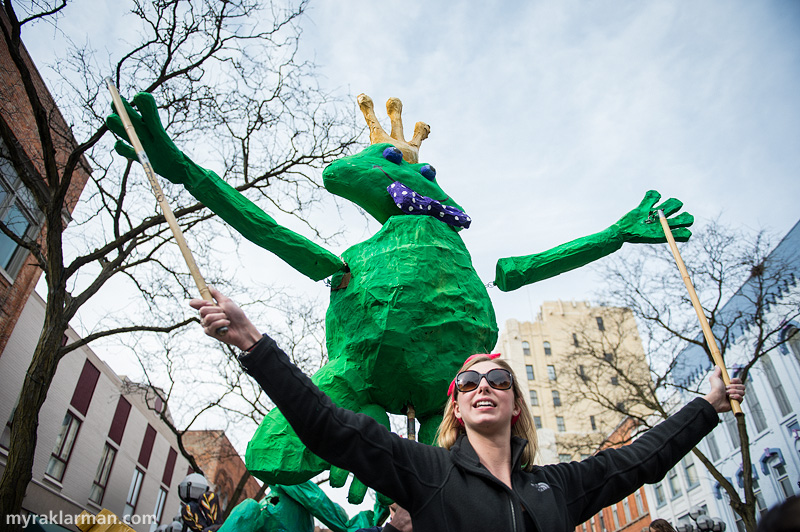 FestiFools 2014 | Frog King puppet created by U-M student Breanna McCarthy.