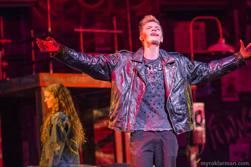 "Pioneer Theatre Guild: Rent | Roger Davis (Nathan Stout) reminisces about his life before becoming HIV positive, and remembers his girlfriend from that time, April (Ivy Gleason). All the while longing for that ""One Song Glory,"" which he can't seem to find."