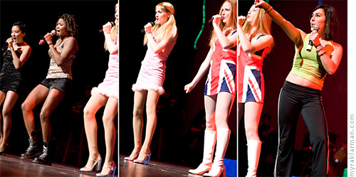 FutureStars 2008 | Pioneer's Spice Girls had it going on: Ashley Park (Posh Spice), Olivia Bassett-Kennedy (Scary Spice), Rachel Mann (Baby Spice), Olivia Songer (Ginger Spice), and Sonya Major (Sporty Spice). They get the award for most thrilling to photograph.