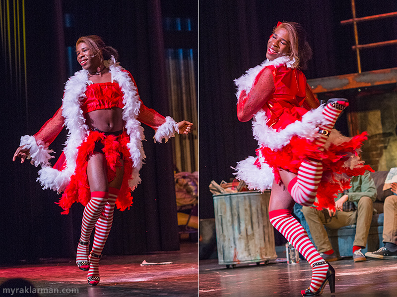 "Pioneer Theatre Guild: Rent | Cross-dressing diva Angel Dumott Schunard (Robbie Stephens) lights up the stage with her fabulously fierce dance AND vocal number ""Today 4 U"" — in heels!"