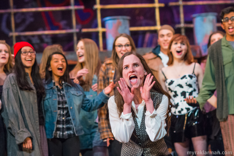 "Pioneer Theatre Guild: Rent | Even the very put-together Joanne Johnson (Adriana Ellis) decides to let it go and have a little fun in ""La Vie Boheme."""