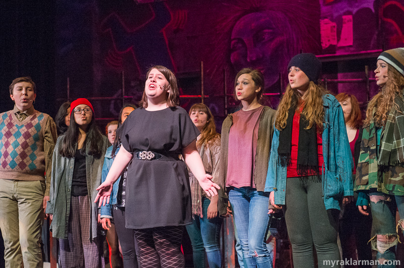 "Pioneer Theatre Guild: Rent | One of the ""Seasons of Love"" soloists, Abigail Hirshbein, helps open the second act of the show, while the whole cast backs her up in a beautiful rendition of this famous number. It was certainly a cast, crew, and crowd pleaser!"