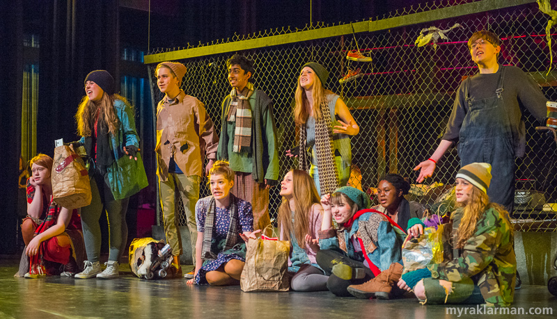 Pioneer Theatre Guild:Rent | It's been a whole year since the first scene of the show and conditions have not improved for the homeless and the junkies living on the grungy streets of Alphabet City.