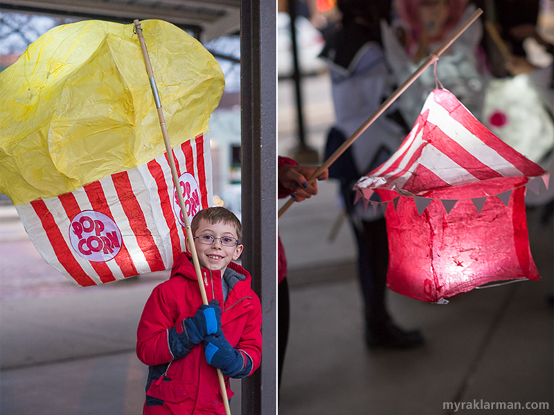 FoolMoon 2015 | Every circus needs popcorn. And a festive tent! Speaking of tents, I hope there are some set up on Washington St. because it has started to rain.