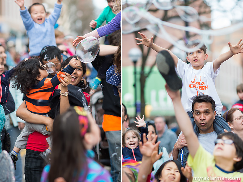 FestiFools 2015 | Want kids to be bursting with joy? Get them near bubbles.