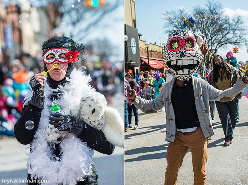 "FestiFools 2016 | The Day of the Dead–bubble-owl lady. Love it! | ""I have a headache, and it's THIS big!"""
