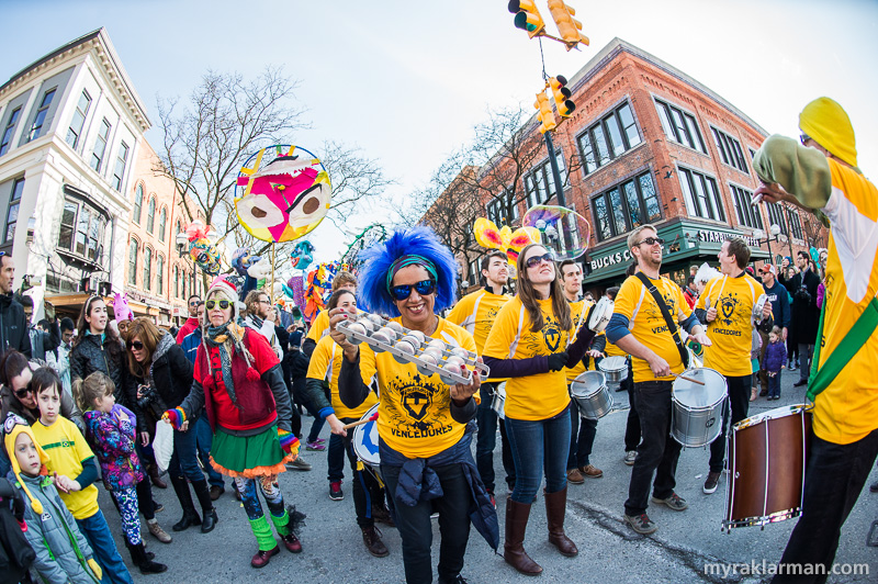 FestiFools 2016 | U-M Center for Latin American & Caribbean Studies (LACS) Artists-in-Residence Magali Medeiros and Philip Galinsky led the U-M Vencedores Band again this year.