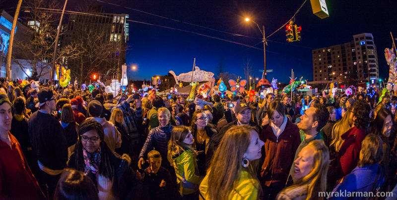 FoolMoon 2016 | April 1, 2016: The intersection of Washington and Ashley was wall-to-wall with FoolMoon revelers.