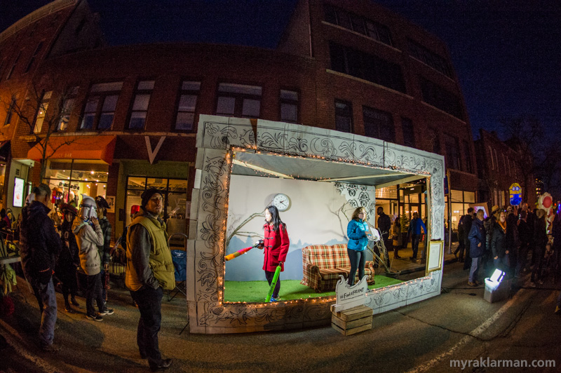 "FoolMoon 2016 | Local artist Scott Wedemeyer's ambitious FoolMoon project (#FoolsFrame). All night long, Fools waited their turn to move through the ""frame"" and be captured in three consecutive still photographs, which would ultimately be strung together into a single time-lapse-ish movie. (Does anyone know if the movie was ever actually made? Is there a URL? If you know, please add a comment.)"