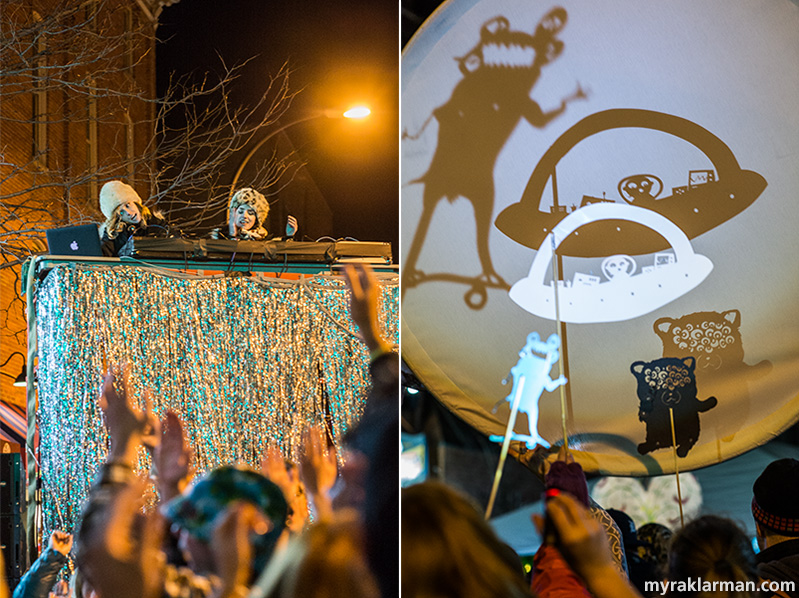 FoolMoon 2016   Ann Arbor's Scout (Meryl Waldo) and Detroit's aria (Leah Waldo) returned to FoolMoon for their third year as DJs extraordinaires. They kept the beats thumping and the Fools jumping!   FoolMoon veteran Patrick Elkins returned with his shadow puppet extravaganza.
