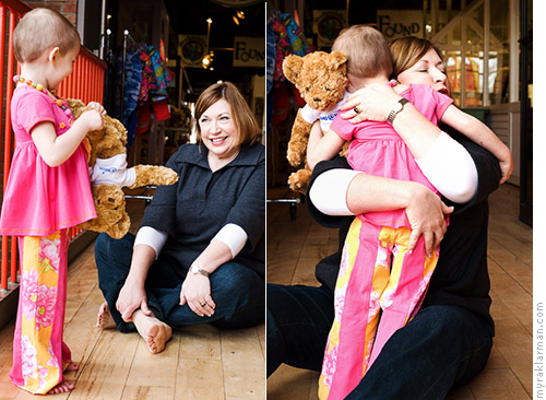 Make-A-Wish: PrincessIzzy | Fairy Godmother Susan Fenters Lerch (a.k.a. CEO, Make-a-Wish Foundation of Michigan) and Magic the Bear stopped by the say hello!