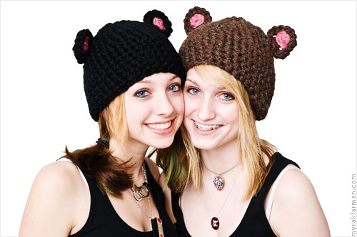 Mice + Bears + Frogs! Oy Veh! | Crocheted Mouse + Bear Hats