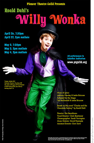Pioneer Theatre Guild: Willy Wonka (Publicity Shoot) | This show has me so excited, I jumped at the chance to reshoot Willy Wonka (Max Rasmussen) for the poster.