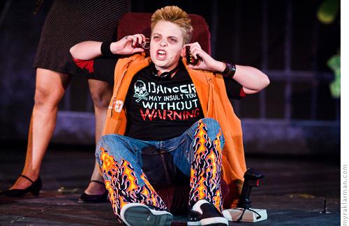 Pioneer Theatre Guild: WillyWonka | Mike Teavee (Schuyler Robinson) is fierce!
