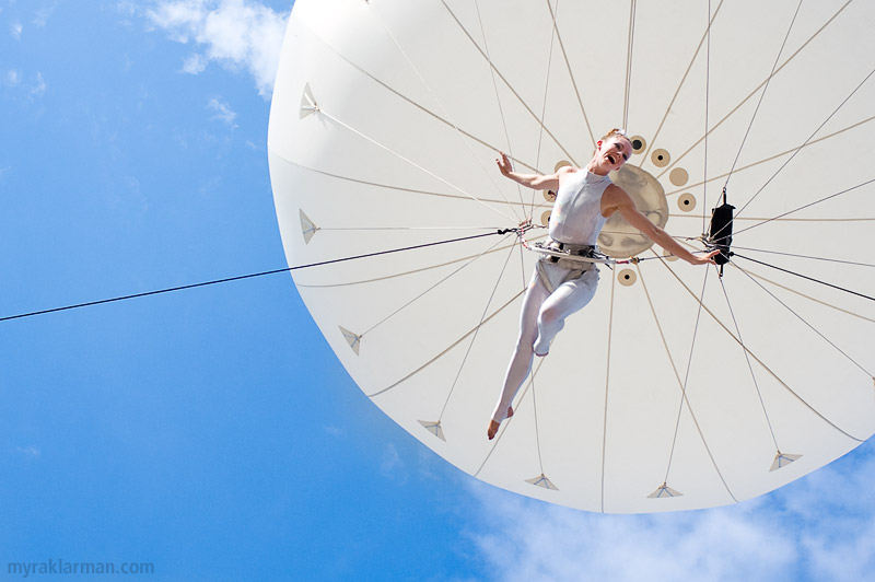 Ann Arbor Summer Festival 2008 | Over the Top (literally!): Dream Engine's Heliosphere.