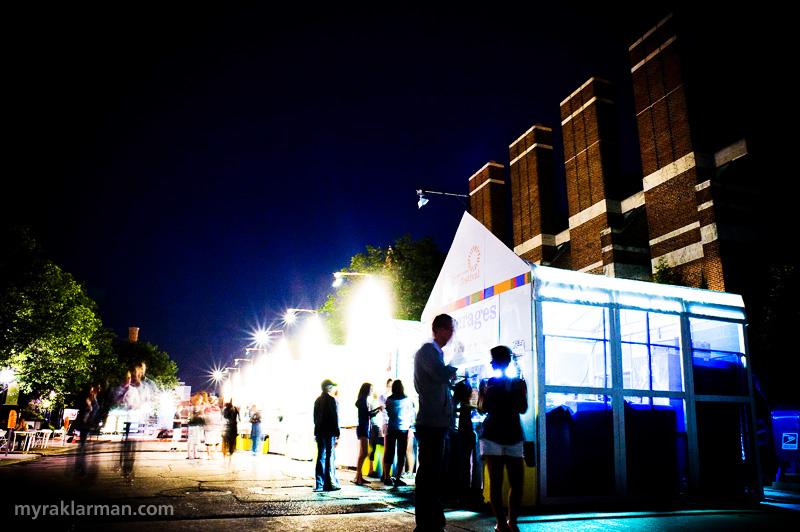 Ann Arbor Summer Festival 2008 | Culinary Row at night. Used my friendly tripod for this one.