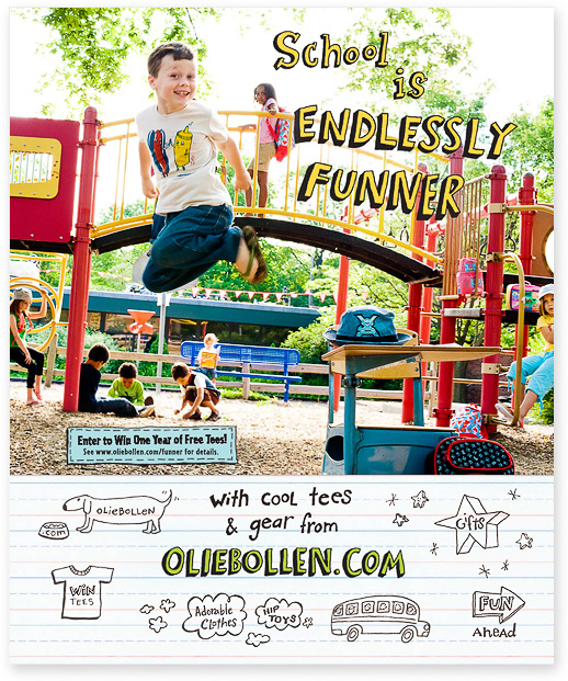 Oliebollen + Wondertime: Endlessly Funner | Wondertime, September 2008, page 66.