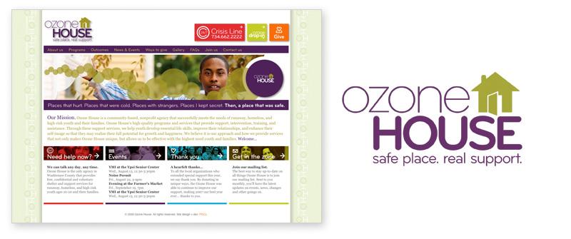 """Journey ofInspiration"" | Ozone House's new website (under development) and new logo, both designed by Pryor Design Co."