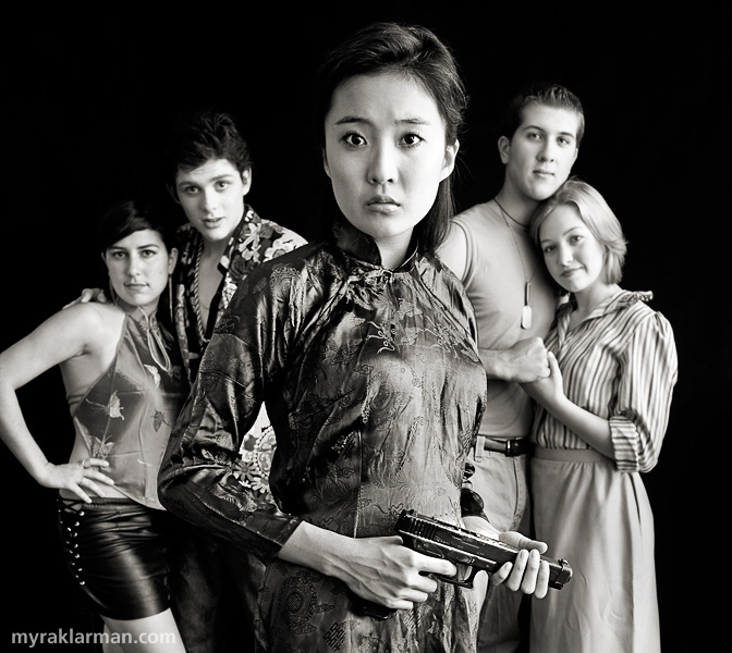 Pioneer Theatre Guild: Miss Saigon (Publicity Shoot) | Pioneer Theatre Guild, Miss Saigon, © 2008 Myra Klarman, Gigi (Sonya Major), The Engineer (Daniel Mozurkewich), Kim (Ashley Park), Chris (Tim Van-Riper), Ellen (Clare Eisentrout).
