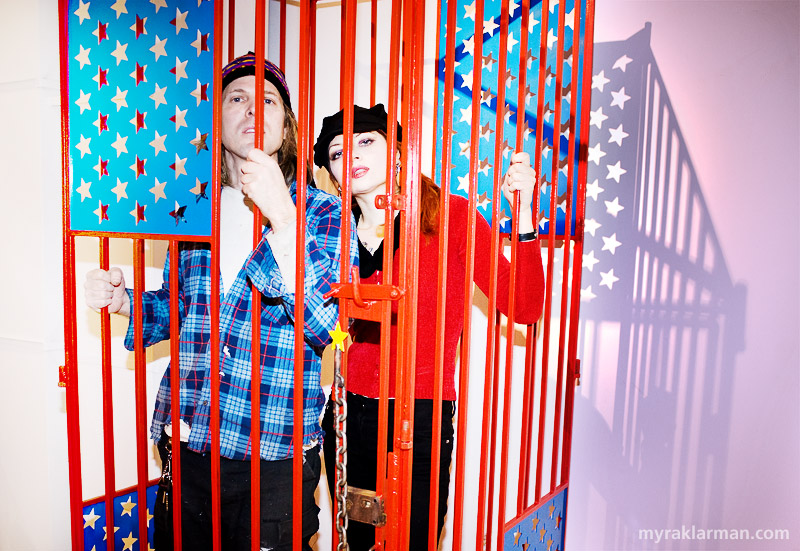 Gallery Project: Step Right Up! | Rick Ruiner and Nina Friday in Ruiner's installation, Please Wake Me From This American Dream.